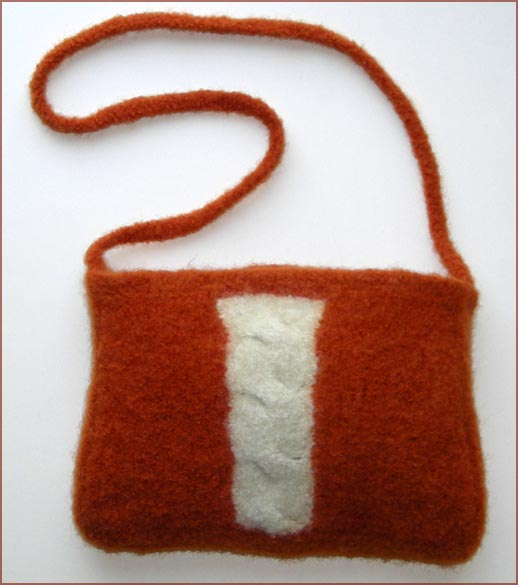 felted cable purse knitting pattern