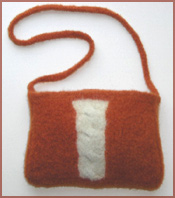 Felt Cable Knit Bag Knitting Pattern