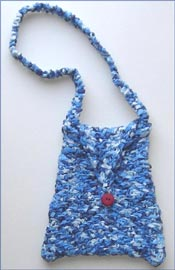 Herringbone Ribbon Bag Knitting Pattern