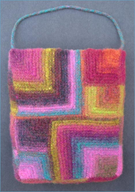 Large And Small Miters Felted Bag knitting pattern