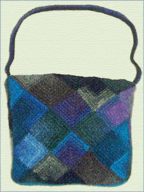 Knitting Pattern For Felt Purse Featuring Miters