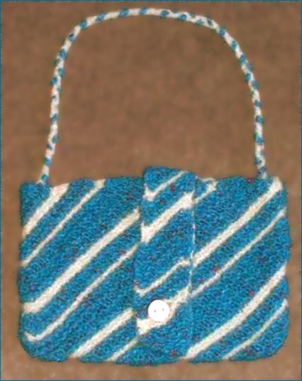 Diagonal Felted Bag