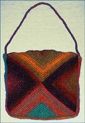 Creativeladys crochet blog: Mitered Stripes Felted Bag-pattern