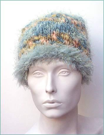 Eyelash Roll Brim Hat Knitting Pattern